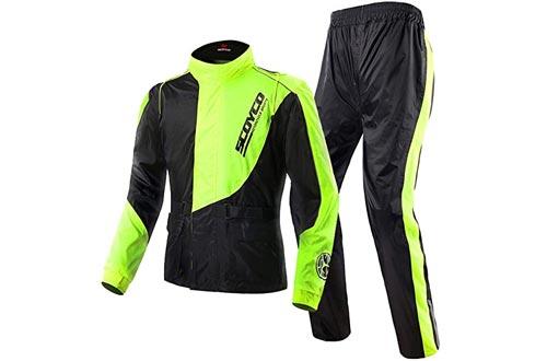 Scoyco RC01 Motorcycle Racing Waterproof Jacket Pants Set Rain Suit (XL)