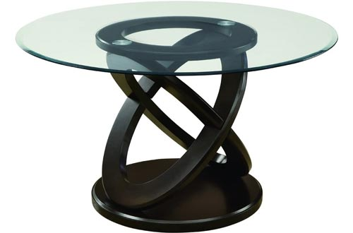 """Monarch Specialties I Tempered Glass Dining Tables, 48"""", Espresso"""