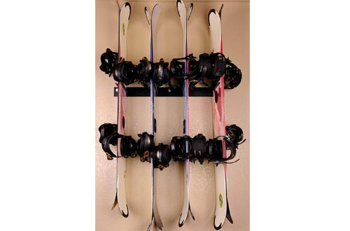 Kinghouse Ski and Snowboard Wall Storage Rack sHolds 4-8 Pairs, Ski Wall Mount, Home and Garage Storage Hanger