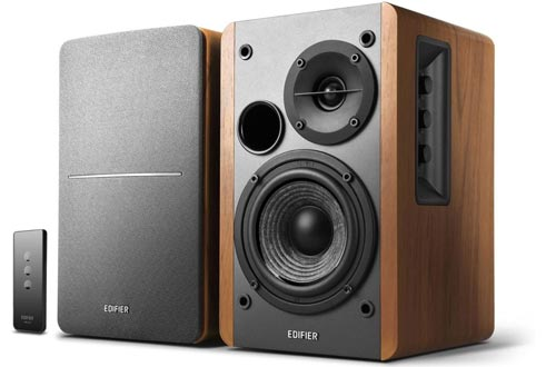 Edifier R1280T Powered Bookshelf Speakers - 2.0 Stereo Active Near Field Monitors - Studio Monitor Speakers - Wooden Enclosure - 42 Watts RMS