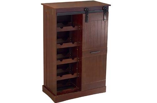 northbeam WNR0051710800 Oxford Bar Wine Cabinets, Espresso