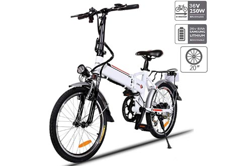 """Aceshin 20"""" Folding Electric Bikes 7 Speed E-Bikes, 36V Lithium Battery 250W Motor Electric Bicycle for Adults"""