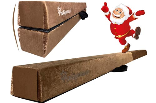 """PreGymnastic Extra-Firm 4"""" Height Suede Cover Folding Gymnastic Balance Beams 8FT/9FT/9.5FT for Home/School/Club/Travel"""