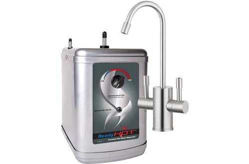 Ready Hot Water Dispenser, Instant Hot Water Dispensers, Includes Brushed Nickel Hot and Cold Water Faucet