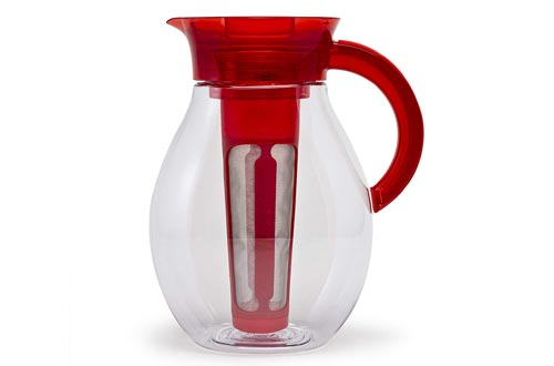 Primula The Big Iced Tea Makers - 1 Gallon Beverage Pitcher, Red