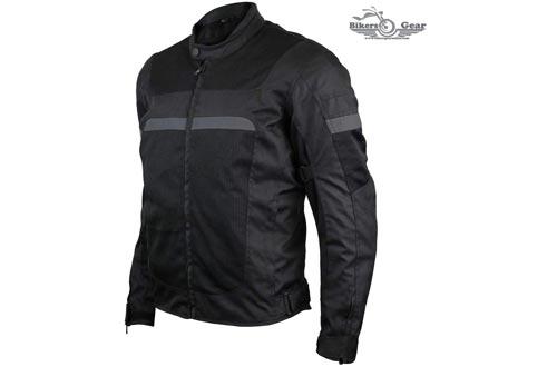 3-SEASON MEN'S MESH/TEXTILE CE ARMOR MOTORCYCLE JACKETS (M)