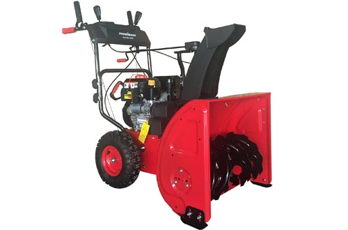 "PowerSmart DB72024PA 2-Stage Gas Snow Blowers with Power Assist, 24"", Black"
