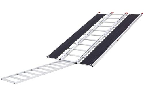 """Black Ice SNO-9454-HDXW-EXT 7' 10"""" x 54"""" Tri-Fold Snowmobile Ramps, Extension"""