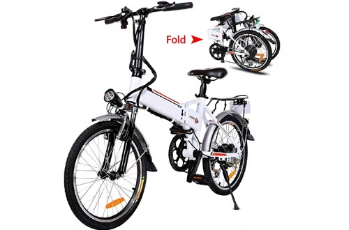 """20"""" Folding Electric Bikes with Removable Large Capacity Lithium-Ion Battery (36V 250W), Electric Bicycle 7 Speed Gear and Three Working Modes"""