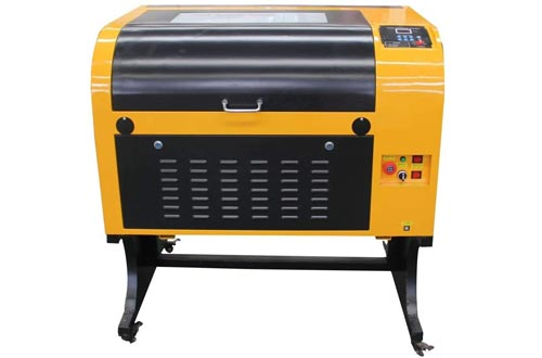 TEN-HIGH Upgraded Version CO2 400x600mm 50W 120V Laser Engraving Cutting Machines with USB Port