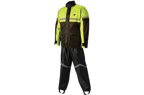 Nelson-Rigg SR-6000-HVY-03-LG Stormrider Rain Suit (Black/High Visibility Yellow, Large)