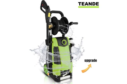 TEANDE 3800PSI Electric Pressure Washer, MAX 2.8GPM Electric Power Washers 1800W
