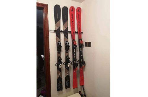 Jranter Aluminum Heavy Duty Ski and Snowboard Wall Mount Racks