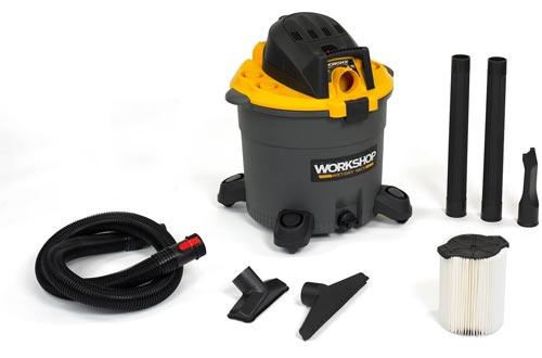 WORKSHOP Wet Dry Vac WS1600VA High Capacity Wet Dry Vacuums Cleaner, 16-Gallon Shop Vacuums Cleaner, 6.5 Peak HP Wet And Dry Vacuums