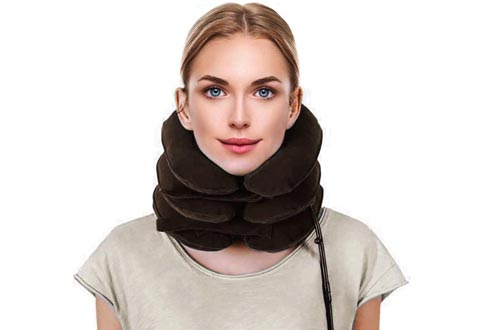 Neck Stretcher- Cervical Neck Traction Devices | Neck Brace for Cervical Neck Traction Fast Neck Pain Relief Aligns Spine and Relieves Pressure from The Neck and Shoulders You Will Feel The Difference