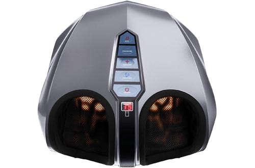Miko Shiatsu Foot Massagers With Deep-Kneading, Multi-Level Settings, And Switchable Heat Charcoal Grey