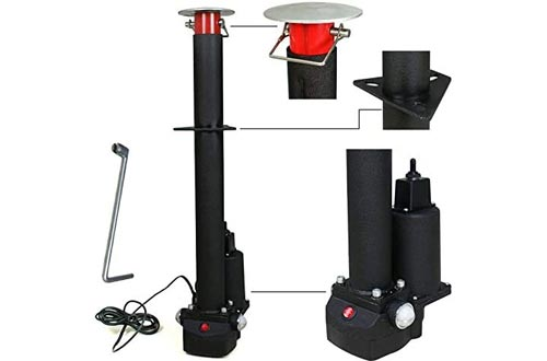 F2C Adjustable Height 3500 Lb 12-Volt A-Frame RV Trailer Jacks Electric Power Tongue