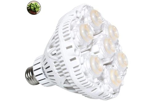SANSI 36W Daylight LED Plant Light Bulbs Full Spectrum Ceramic LED Grow Light Blubs, E26 Plant Bulbs Sunlight White Grow Light for Indoor Garden Farming Greenhouse Grow Walls, UV IR E26
