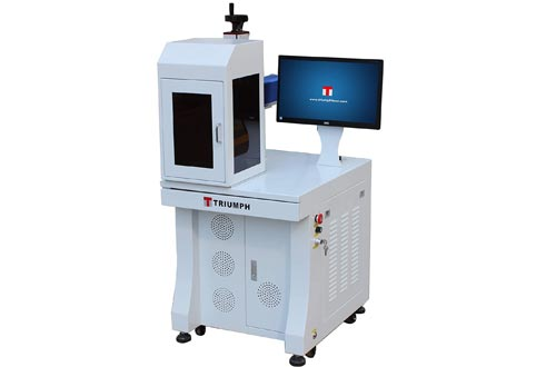 Triumph 50w Fiber Laser Marking deep Engraving Machines Metal polymers Parts Marker Engraver Rotary jewllery Silver Cutting Firearms 110x110 and 200x200mm Lens