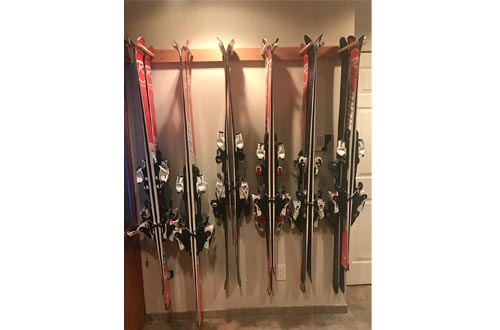Pro Board Racks Vertical Ski and Snowboard Storage Racks (Holds Up to 12 Pairs of Skis)