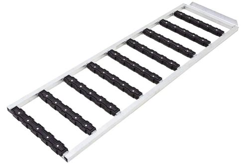 """Black Ice SNO-6018-EXT-S 5' x 18"""" Tri-Fold Snowmobile Ramps Extension with Stud Protectors"""
