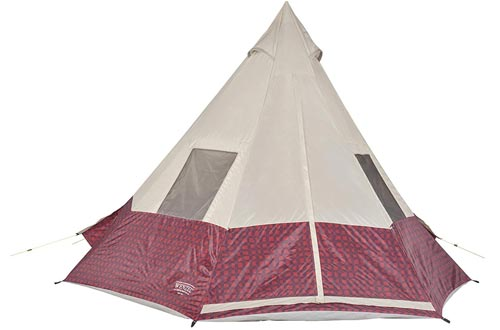 Wenzel Shenanigan 5 Person Teepee Tents - Red