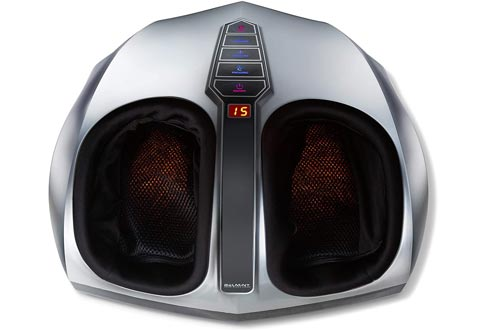 Belmint Shiatsu Foot Massagers with Heat - Multi Setting Electric Feet Massagers with Deep Kneading Massage Therapy and Air Compression - Delivers Relief for Tired Muscles and Plantar Fasciitis