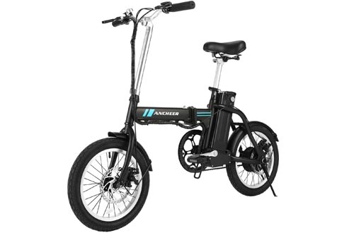 ANCHEER Folding Electric Bikes, 16 Inch Collapsible Electric Commuter Bikes Ebike with 36V 8Ah Lithium Battery