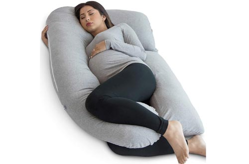 PharMeDoc Pregnancy Pillows, U-Shape Full Body Maternity Pillows - Support Detachable Extension - Includes Travel Bag on Grey Color ONLY