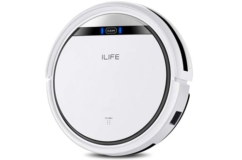 ILIFE V3s Pro Robot Vacuum Cleaners, Tangle-free Suction , Slim, Automatic Self-Charging Robotic Vacuum Cleaners, Daily Schedule Cleaning, Ideal For Pet Hair,Hard Floor and Low Pile Carpet
