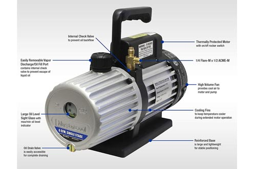 MASTERCOOL 90066-B 6 CFM Single Stage Vacuum Pumps