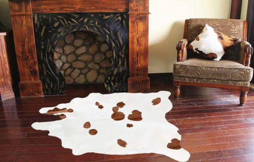 A-Star-Large-White-Cowhide-Rugs-5x5-Genuine-Cowhide-Rug-Brown-Ad-White