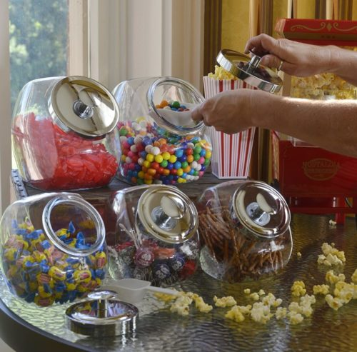 Anchor-Hocking-1-Gallon-Penny-Candy-Glass-Jar-with-Lid-Chrome-Set-of-2
