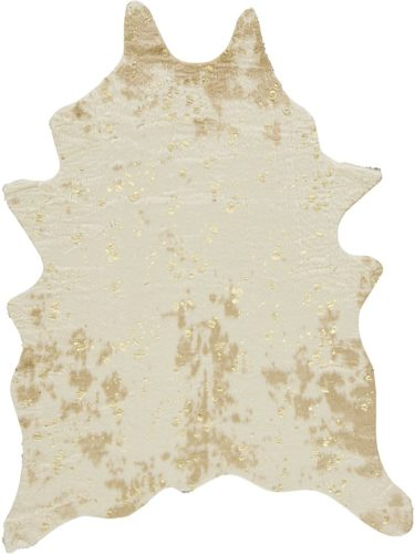 Ashley-Furniture-Signature-Design-Jaxith-Accent-Rug-Faux-Cowhide-Brown