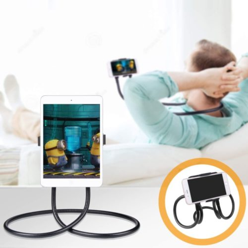 B-Land Cell Phone Holder, Tablet Holder iPad Stand Universal Phone Stand, Lazy Bracket, DIY Free Rotating Gooseneck Mounts with Multiple Function