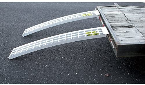 Five Star Aluminum Ramp (2) Set For Trailers - 60in.L x 12in.W, 5,000 lb. Capacity Per Pair
