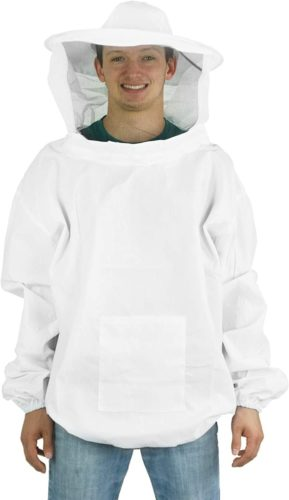 VIVO Professional White Medium/Large Beekeeping Suit, Jacket, Pull Over, Smock with Veil (BEE-V105) TOP 10 BEST BEEKEEPER SUITS IN 2020 REVIEWS