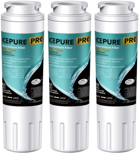 ICEPURE PRO UKF8001 NSF 53&42 Certified Refrigerator Water Filter, Compatible with Maytag UKF8001, Whirlpool Filter 4, 4396395, EveryDrop EDR4RXD1, UKF8001AXX, UKF8001P, 469006, Puriclean II, 3 Pack