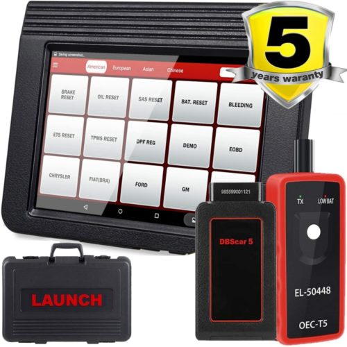 LAUNCH X431 V Pro Bi-Directional Full System Scan Tool for ECU Coding,20 Most Used Reset, Key Program, Matching, Remote Diagnostic, Print Health Report, Free Update,Full Connector Kit- EL-50448 Gift