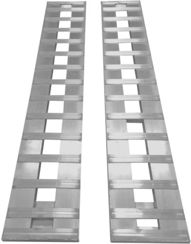 """GENY GH-R168 Aluminum Ramps Truck Trailer car ramps 1- Set, Two ramps = 8,000lb Capacity 15"""" Wide x 14' Long (168"""")"""