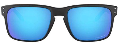 Oakley Men's Holbrook Polarized Rectangular Sunglasses,Polished Black Frame/Grey Lens,one size cheap Oakley sunglasses
