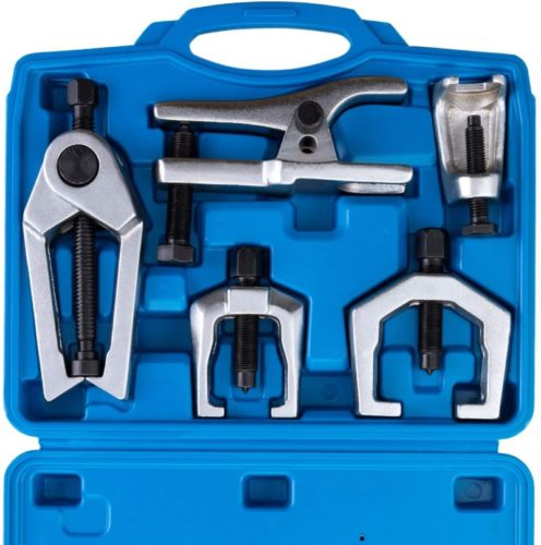 Orion Motor Tech 5PCS Ball Joint Separator Tie Rod End Remover Pitman Arm Puller Service Splitter Removal Tool Kit (BL)
