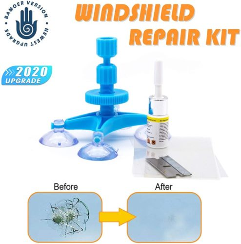 【New Version】 Windshield Repair Kit,Newest Generation Car Windshield Repair Tools with Windshield Repair Resin for Auto Glass Windshield Crack Chip Scratch, Chips, Cracks, Bulll's-Eyes and Stars