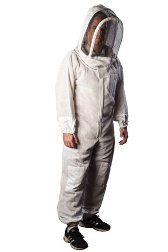 Forest Beekeeping Supply Ventilated Suit - Clear View Fencing Veil YKK Brass Zippers Light Weight & Maximum Protection Professional & Beginner Beekeepers (XS)