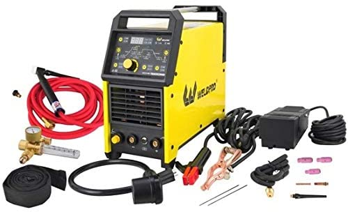2021 Weldpro Digital TIG 200GD ACDC 200 Amp Tig/Stick Welder with Pulse CK 17 Worldwide Superflex Torch/with Trigger Switch Dual Voltage 220V/110V