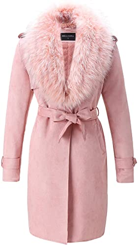 Bellivera-Womens-Faux-Suede-Long-Jacket,Lapel-Outwear-Trench-Coat-Cardigan-with-Detachable-Faux-Fur-Collar