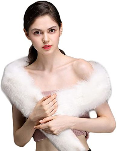 Bettli-Womens-Mens-Extra-Large-Faux-Fox-Raccoon-Fur-Scarf-Collar-Stole-Shawl