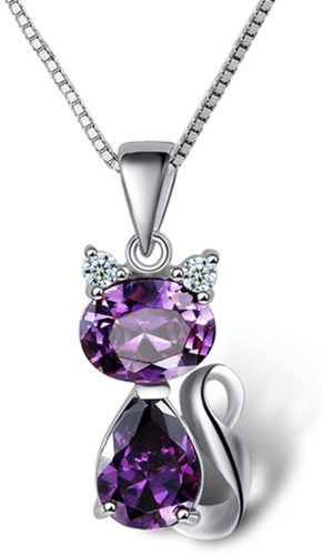 DreamsEden-18-Silver-Box-Chain-Womens-Amethyst-Cat-Pendant-Necklace-Purple-Gift-Box-Greeting-Card