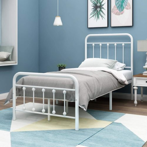 HOMERECOMMEND Metal Bed Frame Twin Size