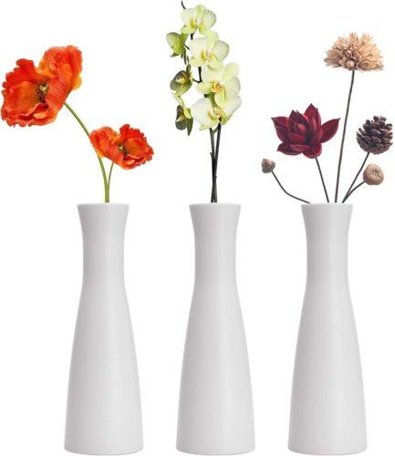 LINGMAI-Tall-Conic-Composite-Plastics-Flower-Vase-Small-Bud-Decorative-Floral-Vase-Home-Decor-Centerpieces-Arranging-Bouquets-Connected-Tubes-Wide-Caliber